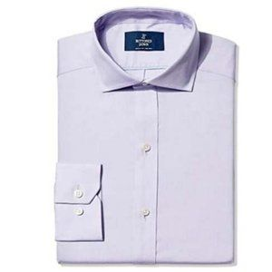NWT Fitted Solid Pinpoint Dress Shirt 15/33